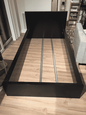 Instead of selling or donating this bed frame, someone instead just threw it out.