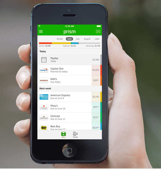 Prism App Review - An Awesome Free Bill Management App