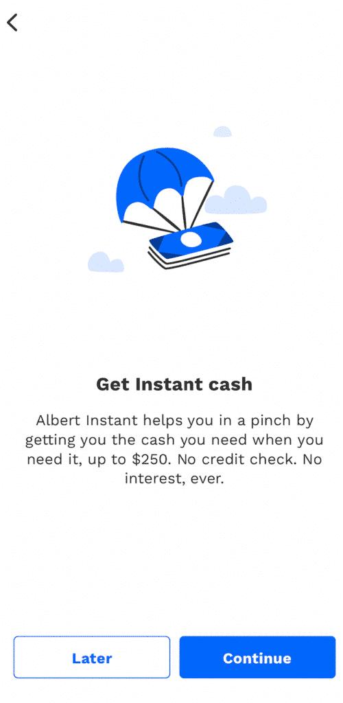 albert instant cash