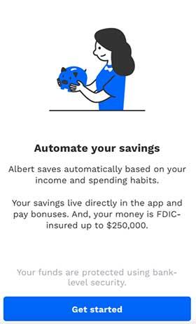 Albert Savings feature