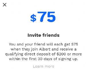 Albert Referral Bonus