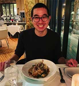 eating at restaurant