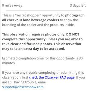 Observa assignment instructions