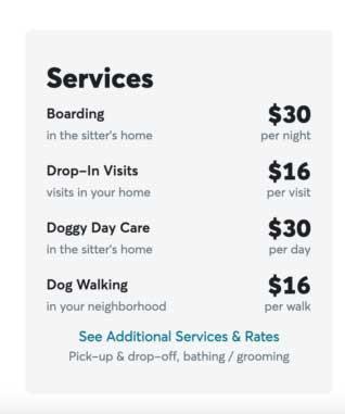 Rover service fees
